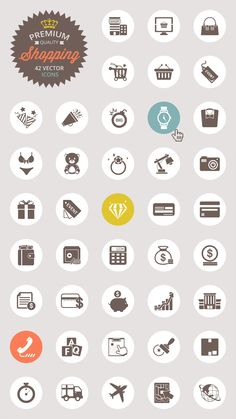 Vector Shopping Icon Set, #AI, #EPS, #Free, #Graphic #Design, #Icon, #PNG, #PSD, #Resource, #Shopping, #Vector