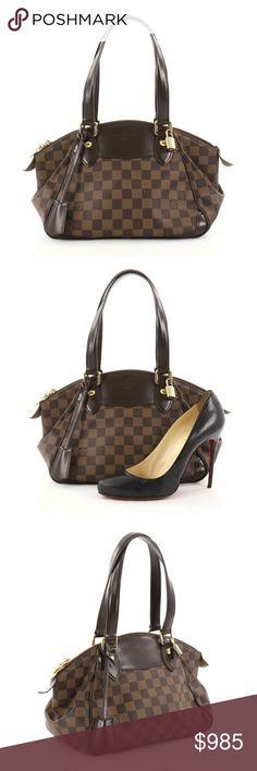 9b7684a602c7 Louis Vuitton Verona Handbag Damier PM Condition  Very good. Slight loss of  shape on