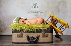 SET Fur and Hat Olive Mongolian and Green Newborn AVIATOR Flyer Pilot Bomber. $59.00, via Etsy.