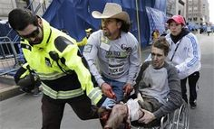 An EMT, A volunteer, and A spectator in a cowboy hat. - Heroes of the Boston Marathon bombing - http://conservativeread.com/an-emt-a-volunteer-and-a-spectator-in-a-cowboy-hat-heroes-of-the-boston-marathon-bombing/
