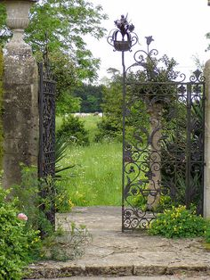 secret garden - where will the gateway take you?  beautiful metalwork.