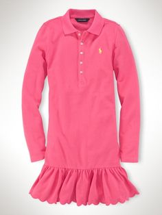 7ba135947cc Embroidered Polo Dress - Girls 7-16 Dresses   Rompers - RalphLauren.com