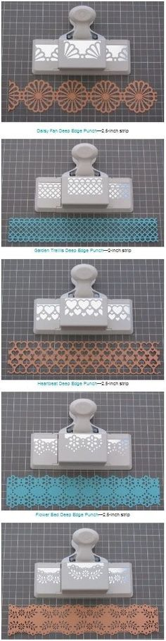 Handy list of measurements needed to create double edged strips with various Martha Stewart edge/border punches and a tutorial (11 different punches including the one in the slideshow tutorial) #paper | http://cute-pet-930.lemoncoin.org