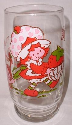 1980 Strawberry Shortcake Drinking Glass Theres More Where This Came From #AmericanGreetings