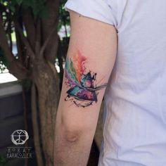 ✔ Cute Tattoos For Women Colour Mini Tattoos, New Tattoos, Body Art Tattoos, Sleeve Tattoos, Tattoos For Guys, Tattoos For Women, Pink Floyd, Inspiration Tattoos, Tatuagem Conor Mcgregor