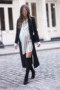 Dress: Isabel Marant / Boots: JOIE / Coat: Alice and Olivia (N/A) similar / Sunglasses: Dior / Bag: CHANEL
