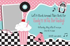 50's Theme Birthday Party on Etsy, $12.50