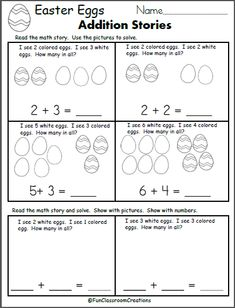 Free Easter Addition Worksheet