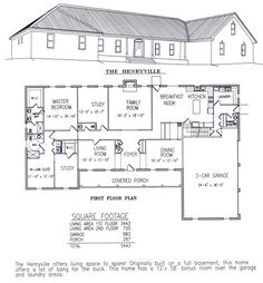 Floor Plans and Drawings for a New Barn Home | Home layouts ...