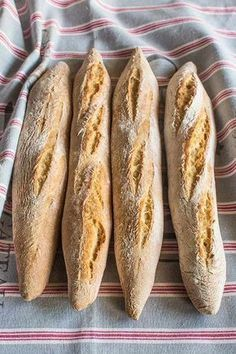 Receta de baguettes paso a paso Pan Bread, Bread Baking, Tapas, Mexican Bread, Pan Dulce, Bread And Pastries, Empanadas, Ciabatta, Meat Recipes