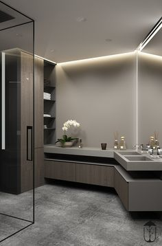 65 Ideas Bathroom Design Modern Black Decorating Ideas For 2019 Bathroom Sink Storage, Modern Bathroom Sink, Modern Bathroom Lighting, Bathroom Sink Cabinets, Diy Bathroom, Modern Bathroom Design, Bathroom Colors, Bathroom Interior Design, Bathroom Flooring