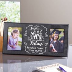 Personalized Then and Now Graduate Frame, Multicolor