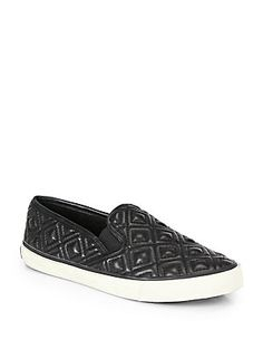 Tory Burch Jesse Quilted Leather Sneakers