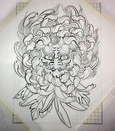 Instagram 上的 Nami / Horinami / Nammymetal:「 #tattoo #foodog #chrysanthemum #タトゥー #唐獅子 #菊 」 Japanese Flower Tattoo, Japanese Dragon Tattoos, Japanese Tattoo Designs, Face Painting Tutorials, Face Painting Designs, Chest Piece Tattoos, Body Art Tattoos, Traditional Japanese Tattoo Flash, Tiger Face Tattoo