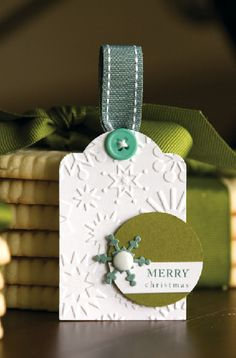 simple gift tag - embossing adds elegance