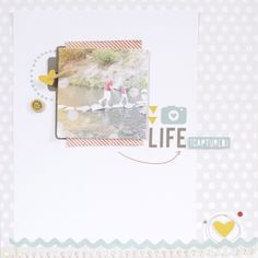 Silhouette America Blog | Life Captured Scrapbook Layout