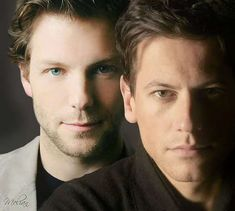 Jamie Bamber (Mr. Kennedy) and Ioan Gruffudd (Mr. Hornblower) from the Hornblower series. I love this series!