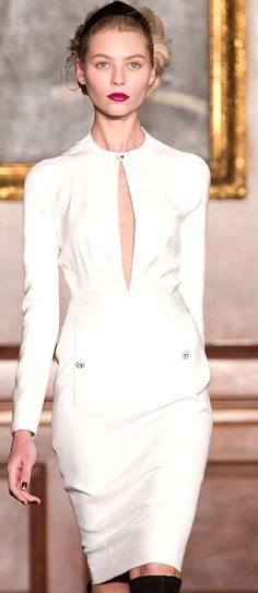 Bill Blass Business Chic, Business Fashion, Couture Fashion, Runway Fashion, White Fashion, Luxury Fashion, Elegant Chic, Sophisticated Style, Chic Dress