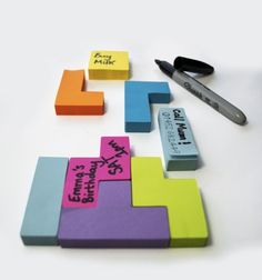 omg. Tetris Post it notes.