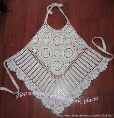 Sommer Top weiß häkeln - crochet top