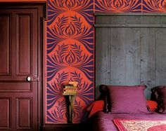 Stencil for Walls  Art Nouveau Leaf Pattern  by OliveLeafStencils