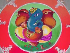 Beautiful Shaded Ganesh Ji