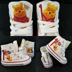 This Winnie the pooh birthday party shoes pooh bear shoes is just one of the custom, handmade pieces you'll find in our sneakers & athletic shoes shops. First Birthday Themes, Baby Boy 1st Birthday, 1st Birthday Girls, Boy Birthday Parties, Birthday Ideas, Birthday Tutu, Birthday Photos, Birthday Gifts, Birthday Cake
