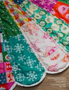 Giant Dresden Christmas Tree Skirt - PDF Accessory Pattern | Modern quilting fabrics by Pink Castle Fabrics