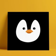 "wunderbär on Instagram: ""Penguin print by Txiribita. 14.8x14.8cm, printed on 300gsm white recycled board.  #penguin #print #illustration #childrensillustration…"""