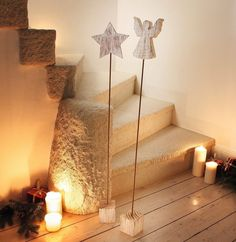 "Decorative object ""Angel & Star"", set of 2 now for € in the Frank Fl . Fun Crafts, Diy And Crafts, Christmas Diy, Christmas Decorations, Seasonal Decor, Holiday Decor, Craft Shop, Wooden Crafts, Decorative Objects"