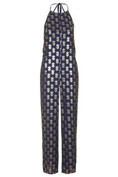 Foil Pineapple Print Jumpsuit