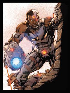 Cyborg by Robert Atkins and Kyle Ritter. Comic Book Artists, Comic Book Heroes, Comic Books Art, Comic Art, Comic Superheroes, Cyborg Dc Comics, Arte Dc Comics, Superman, Batman