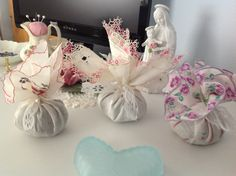 Lavender Sachets made with antique hankies