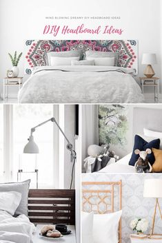 A dreamy headboard can bring on a wonderful Sanctuary. These DIY headboard ideas can transform a tired bedroom into a stylish and dreamy place where you will love to unwind in.  Some of the projects are so easy to execute that they hardly take an hour to complete. Channel tufted,  jute,  geometric, winged, edgy, backboard typed headboards are the top preferences of people. Tufted Headboards, Headboard Ideas, Wooden Diy, Mind Blown, Wooden Frames, Jute, Bedroom Furniture, Tired, Mattress