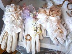 Vintage glove sachets