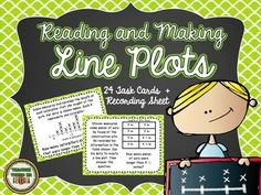 This is a fun little set of task cards designed for your students to use when practicing their skills with reading and making line plots. Math Measurement, Math Fractions, 3rd Grade Reading, Third Grade Math, Elementary Library, Elementary Math, Math School, School Days, School Stuff