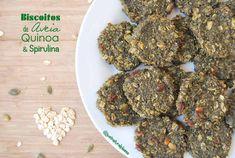Biscoitos de Aveia, Quinoa & Spirulina