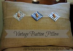 Vintage Button Pillow