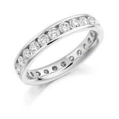 Engagement ring then simple wedding band