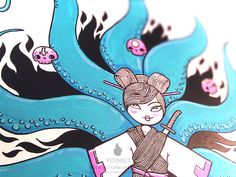 La Geisha by Victors Comics, via Behance
