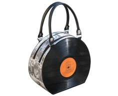 retro vinyl record handbag bag - music gift for musician - nostalgic vintage gifts for women - upcycled bag - eco friendly gifts for her Bags Online Shopping, Discount Shopping, Online Bags, Shopping Bag, Handbag Online, Vinyl Record Crafts, Vinyl Records, Gift For Music Lover, Music Gifts