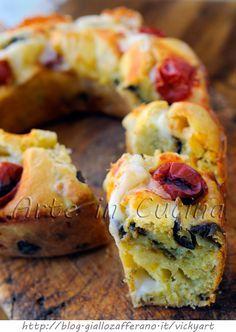 Ciambella con melanzane e provola ricetta veloce vickyart arte in cucina