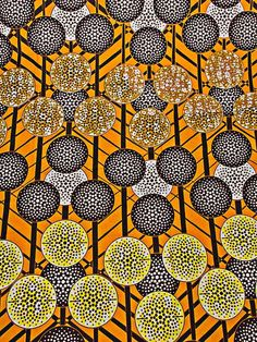 Tessuto reale cera Mali tessile giallo zenzero di Africanpremier