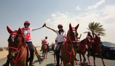 The Pink Caravan in the UAE: An amazing 11-day expedition that includes a horseback ride across the seven emirates, accompanied by mobile detection clinics.   #UAE #MiddleEast #breastcancer #awareness #women #innovation