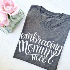 Image of Embracing Mommyhood {Gray Vneck}