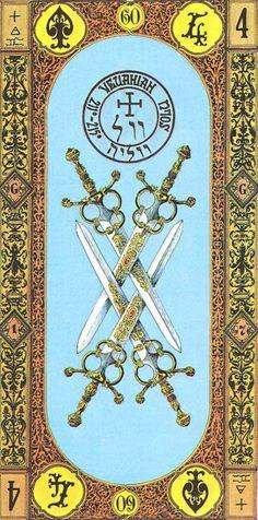 4 of Swords tarot card - TA- Schwerter - 04