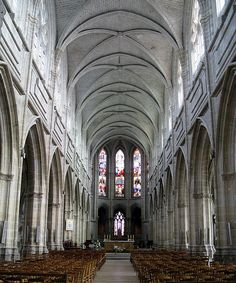 The nave of the cathedral (Cathédrale Saint-Louis de Blois), Blois, France | Flickr - Photo Sharing!