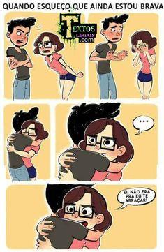 Cute Couple Comics, Couples Comics, Haha Funny, Funny Memes, Anime Naruto, Cute Love, Cute Couples, Geek Stuff, Romance
