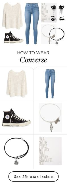 """seaching 4 u...❤︎"" by caterina-b on Polyvore featuring MANGO, Converse, 7 For All Mankind, Alex and Ani and Canton Box Co."