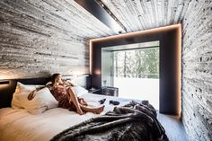 Morphosis, the studio founded by Pritzker Prize winner Thom Mayne, has refurbished a series of guest rooms at the Vals mountain retreat in Switzerland.